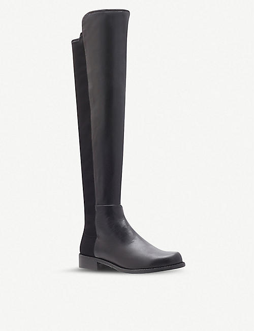 STUART WEITZMAN: 50/50 knee high suede and leather boots