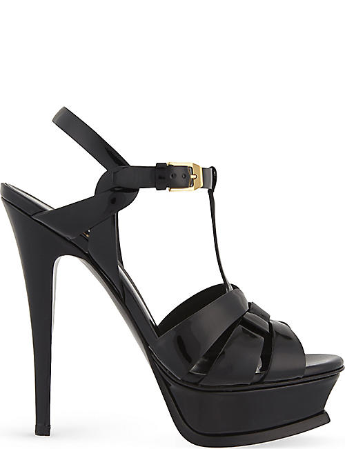 Sandals for Women On Sale in Outlet, Black, Leather, 2017, 5.5 Saint Laurent