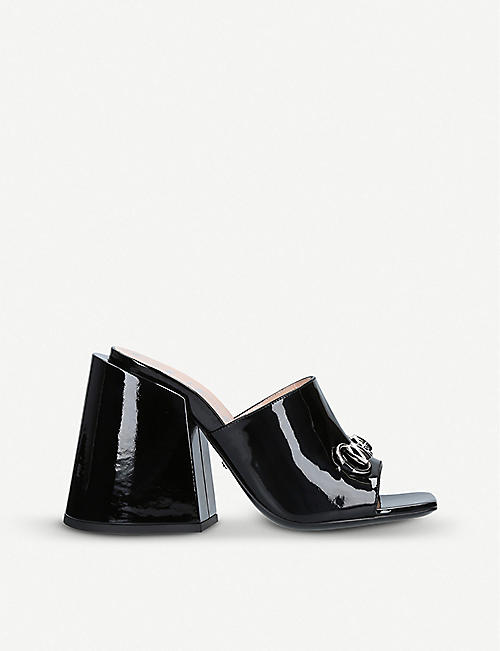 GUCCI Lexi 105 patent-leather mules