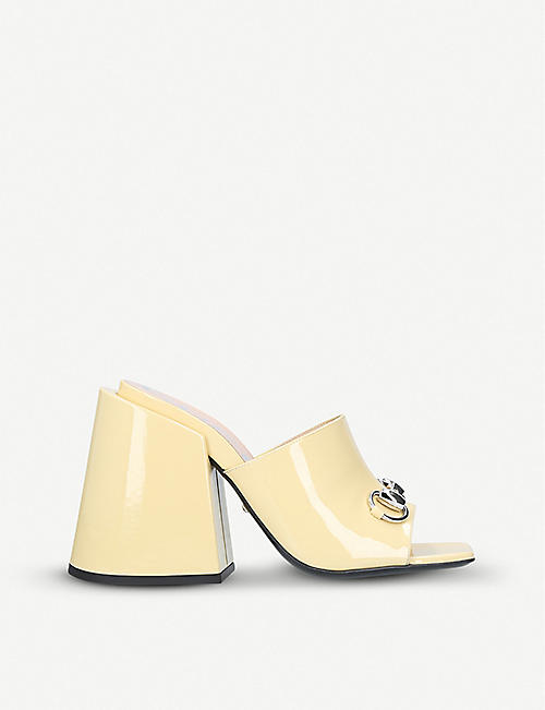 GUCCI Lexi patent-leather mules