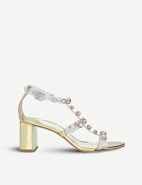 9620e099 SOPHIA WEBSTER Dina embellished vinyl and leather sandals