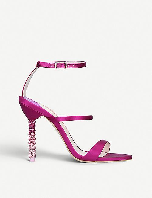 276a9d6ea SOPHIA WEBSTER Rosalind Crystal satin heeled sandals