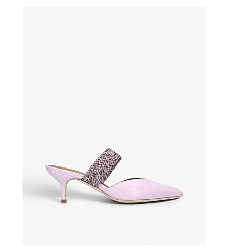 eb70ae29768 ... MALONE SOULIERS Maisie Luwolt leather kitten heels (Pink+comb.  PreviousNext