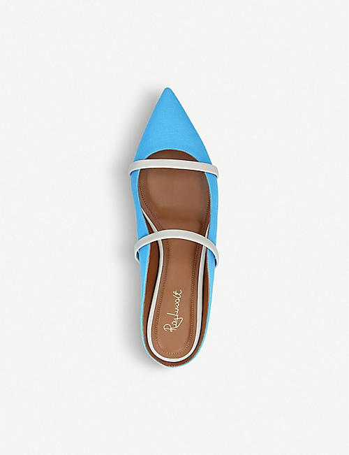 MALONE SOULIERS Maureen Luwolt fabric and leather flats