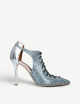 MALONE SOULIERS Montana 100 snakeskin-leather courts