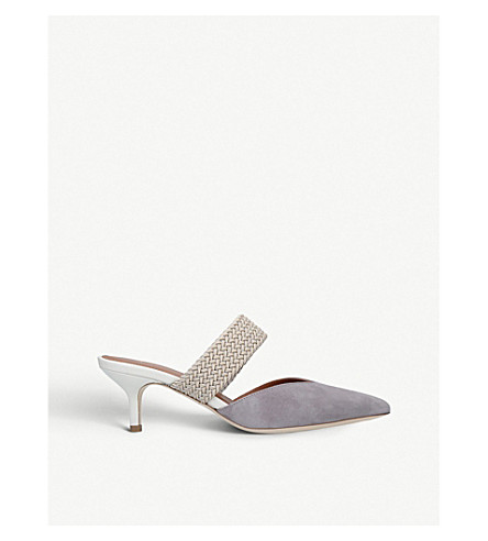 53b72dc5b68 MALONE SOULIERS Maisie Luwolt suede kitten heels (Grey