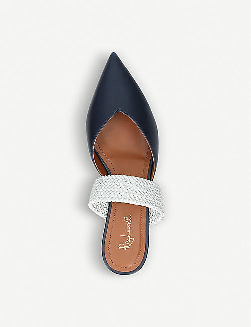 MALONE SOULIERS Maisie Luwolt leather and braided flats