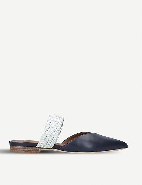 79d1eda0d35 MALONE SOULIERS Maisie Luwolt leather and braided flats