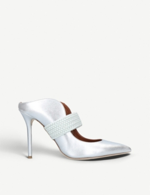 MALONE SOULIERS Mara Luwolt metallic-leather mules