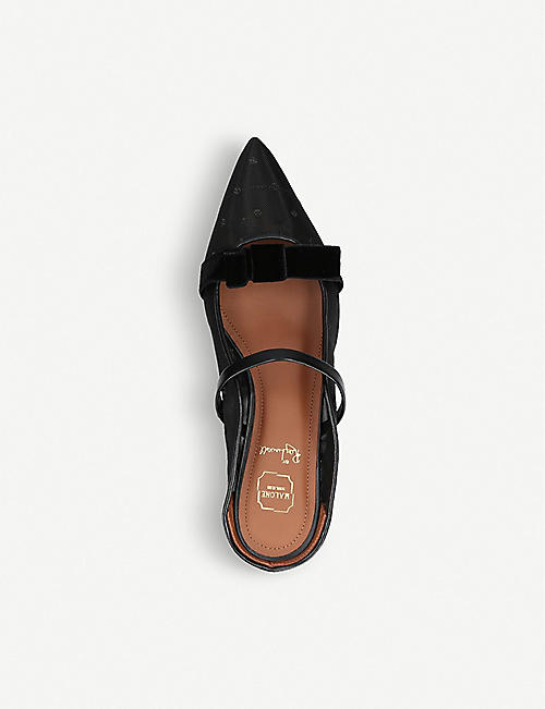 MALONE SOULIERS Marguerite Luwolt leather and mesh flats