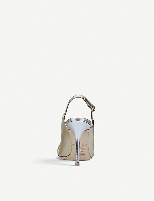 MALONE SOULIERS Marion Luwolt metallic-leather courts