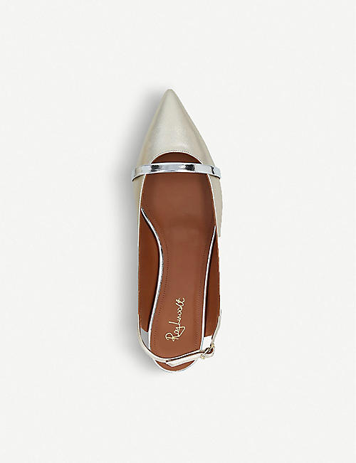 MALONE SOULIERS Marion Luwolt satin and leather flats