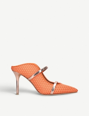 MALONE SOULIERS Maureen 85 woven leather mules