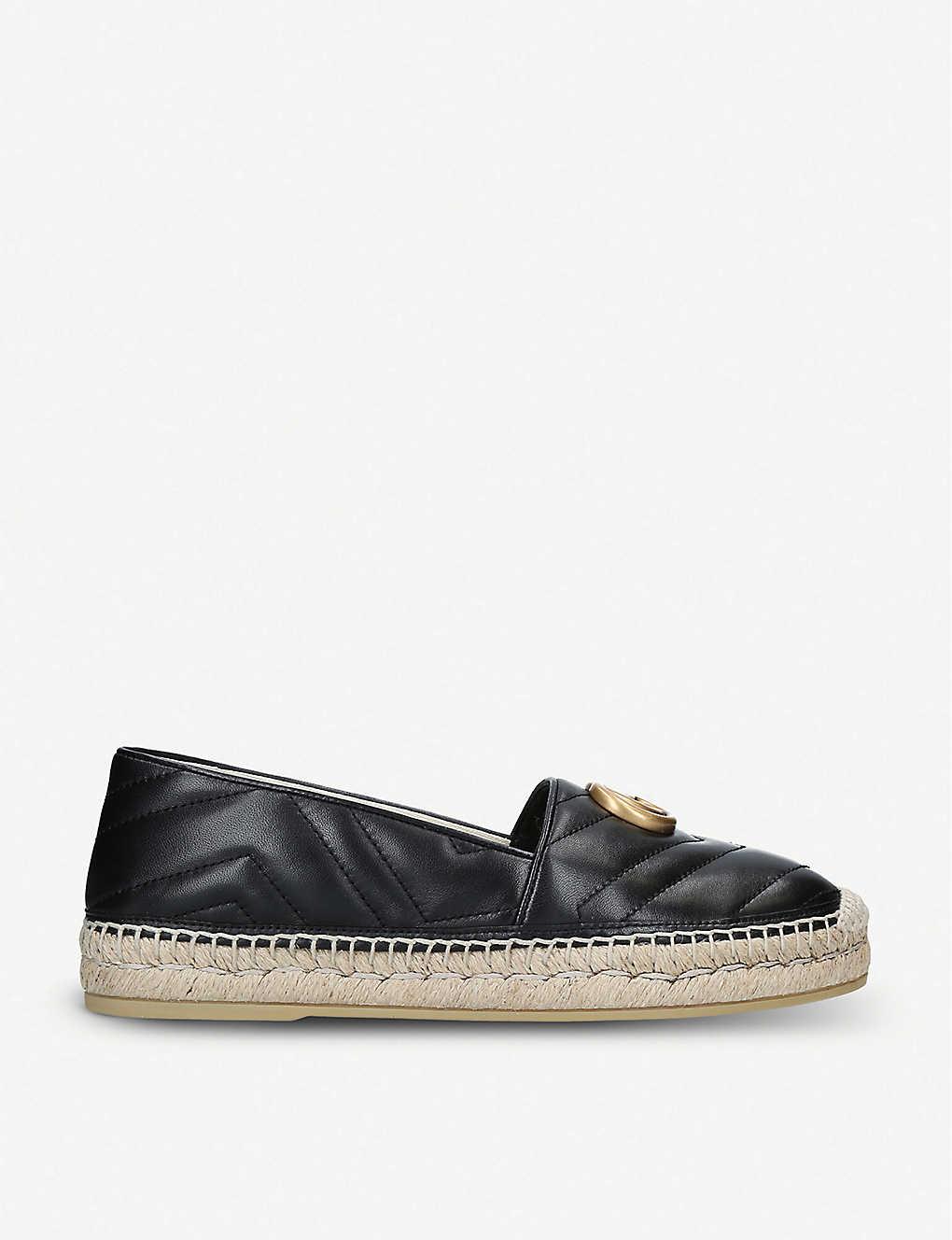 GUCCI: Pilar leather espadrilles