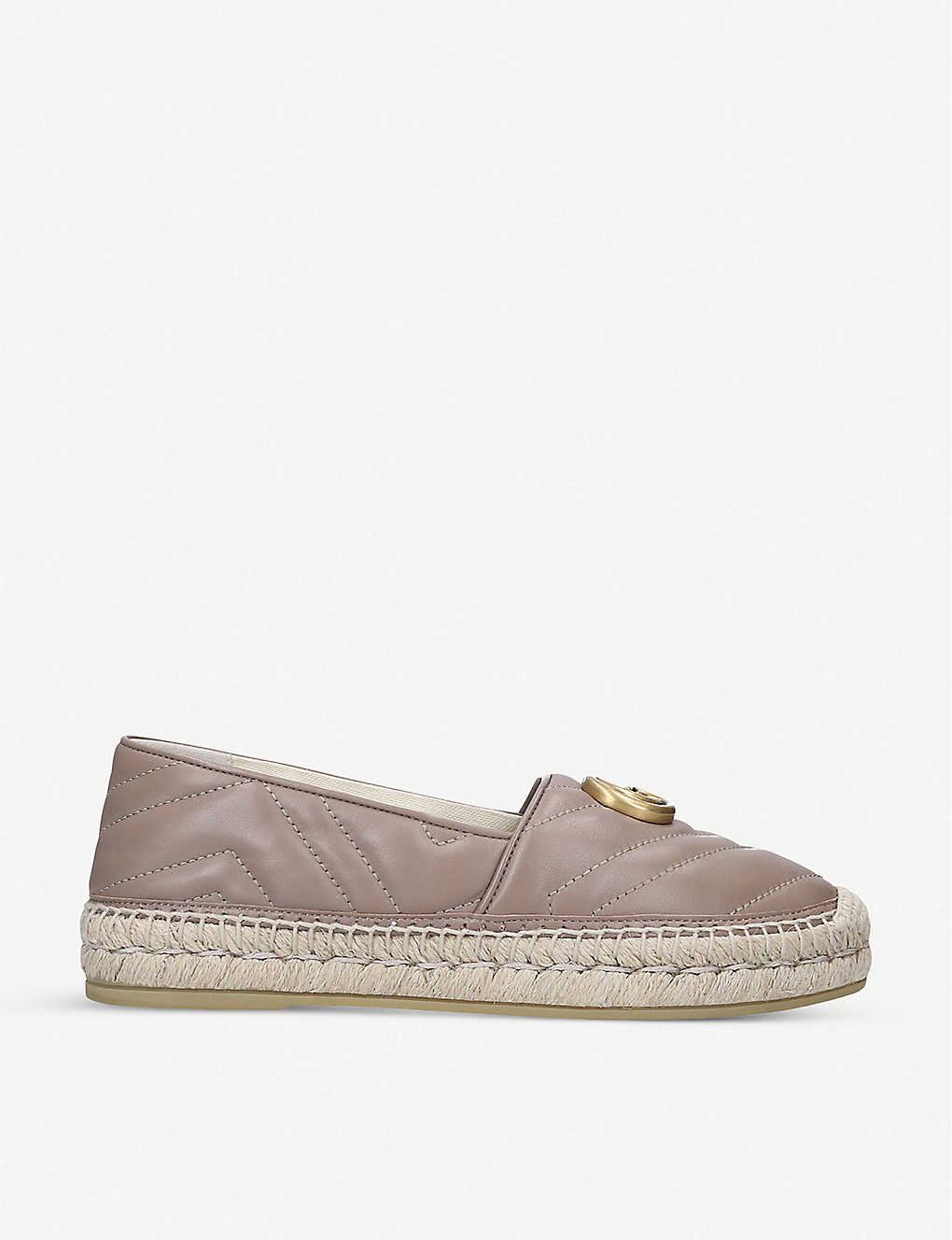 GUCCI: Pilar leather espadrilles