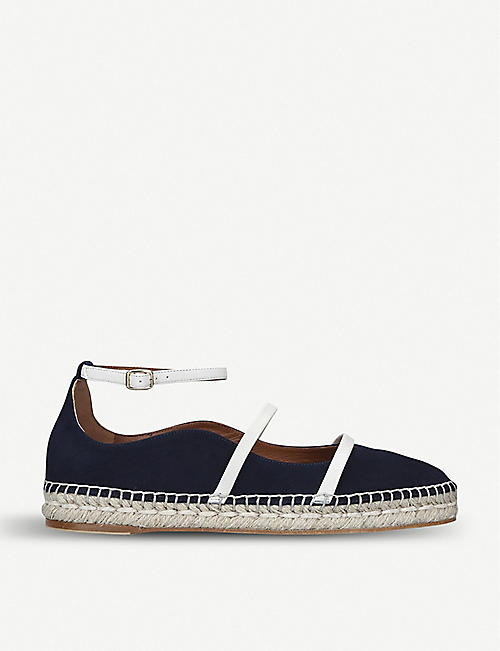 1bf5ef776d6 MALONE SOULIERS Selina Luwolt contrast-strap suede espadrille flats