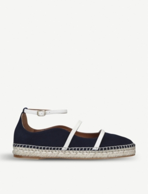 MALONE SOULIERS Selina Luwolt contrast-strap suede espadrille flats