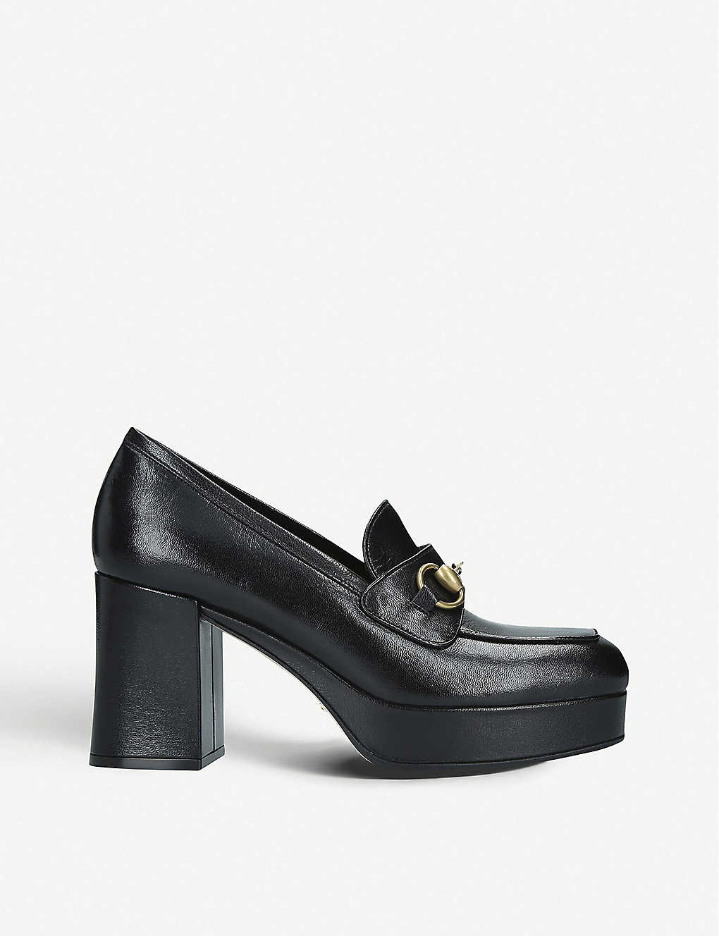 GUCCI: Houdan leather platform loafers