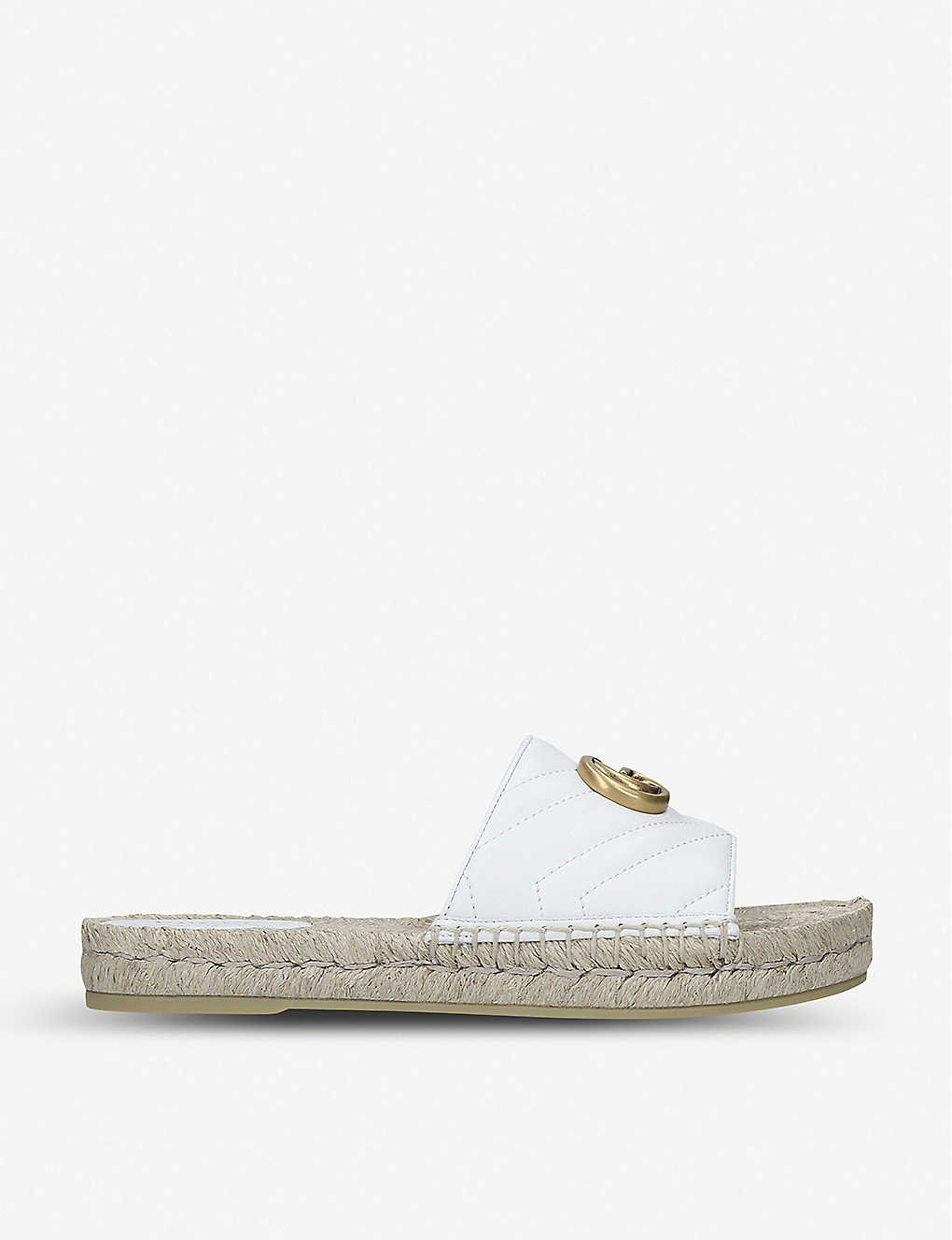 Gucci Slippers Pilar leather espadrille slides