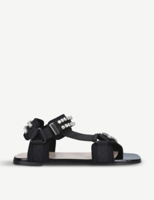 GUCCI Shea canvas sandals