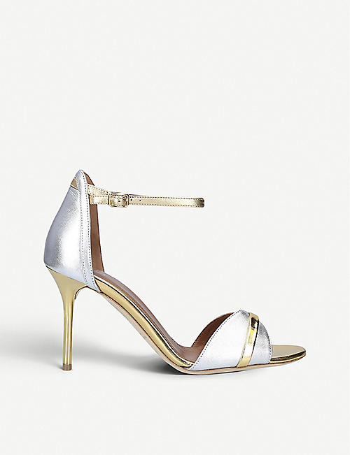 MALONE SOULIERS Honey 85 metallic-leather heeled sandals