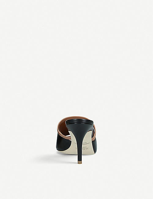 MALONE SOULIERS Laney 70 leather heeled mules