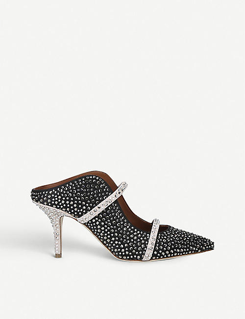 MALONE SOULIERS Maureen 70 satin and sequinned mules