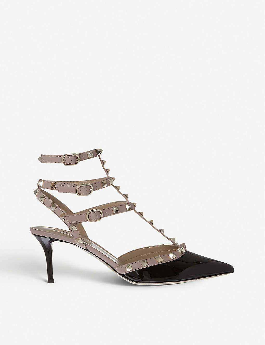 VALENTINO GARAVANI: So Noir 65 patent-leather heeled sandals