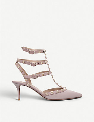 VALENTINO GARAVANI: So noir patent-leather heeled sandals