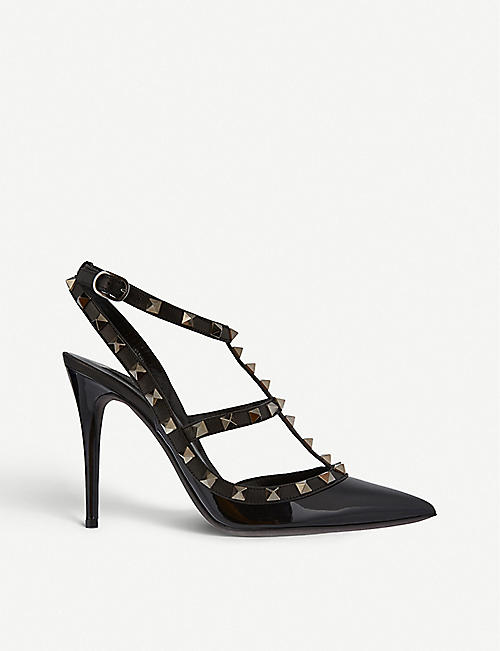 adc3977b557 VALENTINO Rockstud 100 patent-leather courts