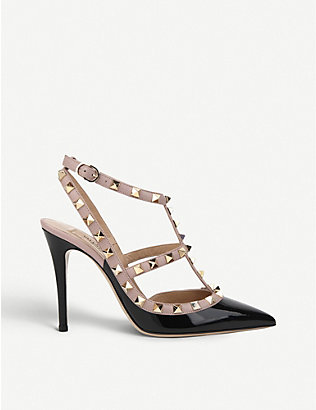 VALENTINO: Rockstud 100 leather courts
