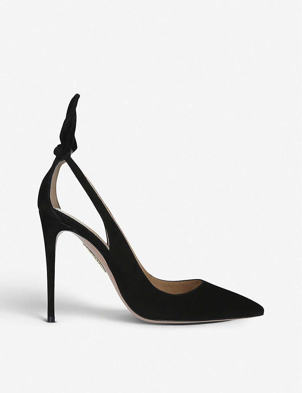 Aquazzura Shoes Deneuve suede heeled pumps