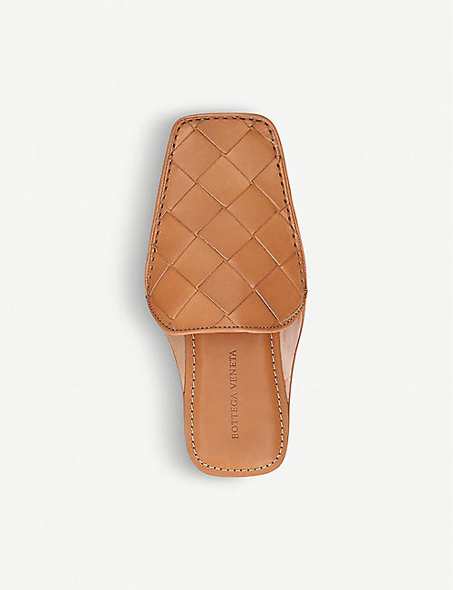 BOTTEGA VENETA Intrecciato leather backless loafers