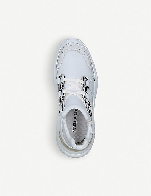 STELLA LUNA Lucien Chain leather trainers