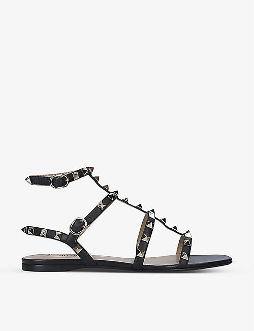 VALENTINO GARAVANI: Rockstud leather gladiator sandals