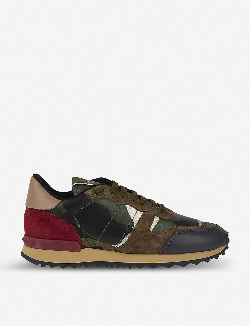 31a710feefb9 VALENTINO - Camouflage-print leather trainers