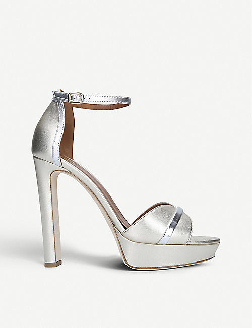 MALONE SOULIERS Miranda 125 metallic leather heeled sandals