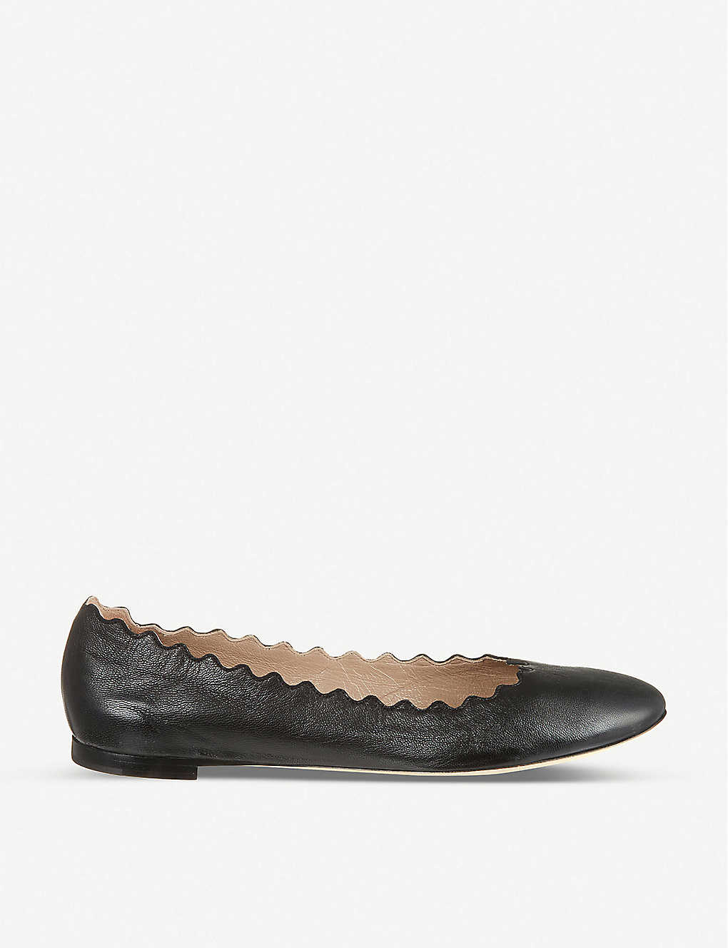 bb4d6634f CHLOE - Scallop leather ballet flats | Selfridges.com