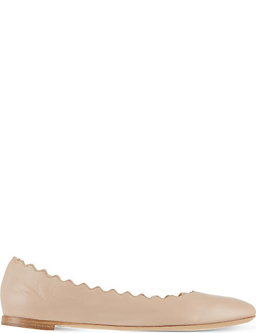 CHLOE Scallop leather ballet flats