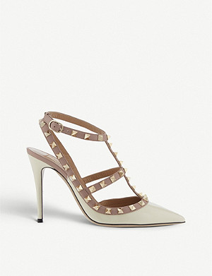 VALENTINO Rockstud 100 patent-leather courts