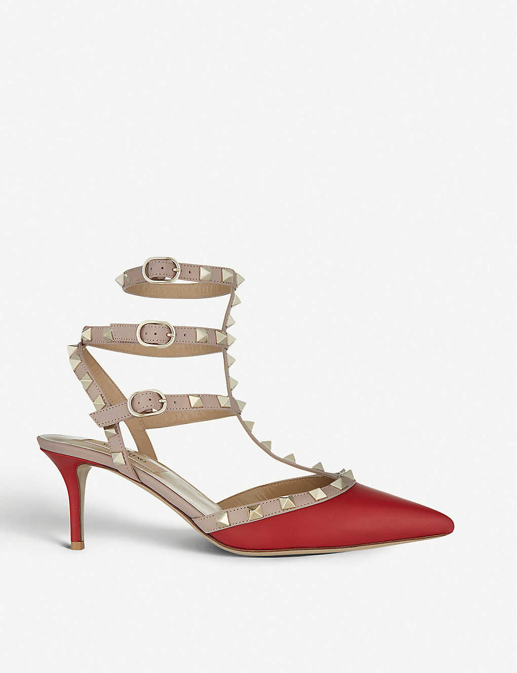 VALENTINO: Rockstud 65 leather courts