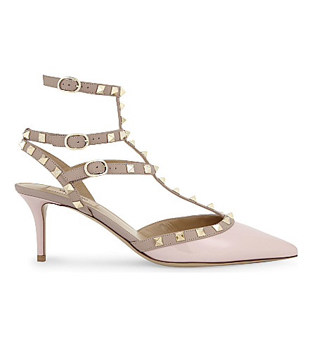 9408e888f367 VALENTINO Rockstud 65 patent-leather courts (Pale+pink