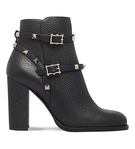 e6466c6c1ec4 VALENTINO Rockstud leather ankle boots (Black