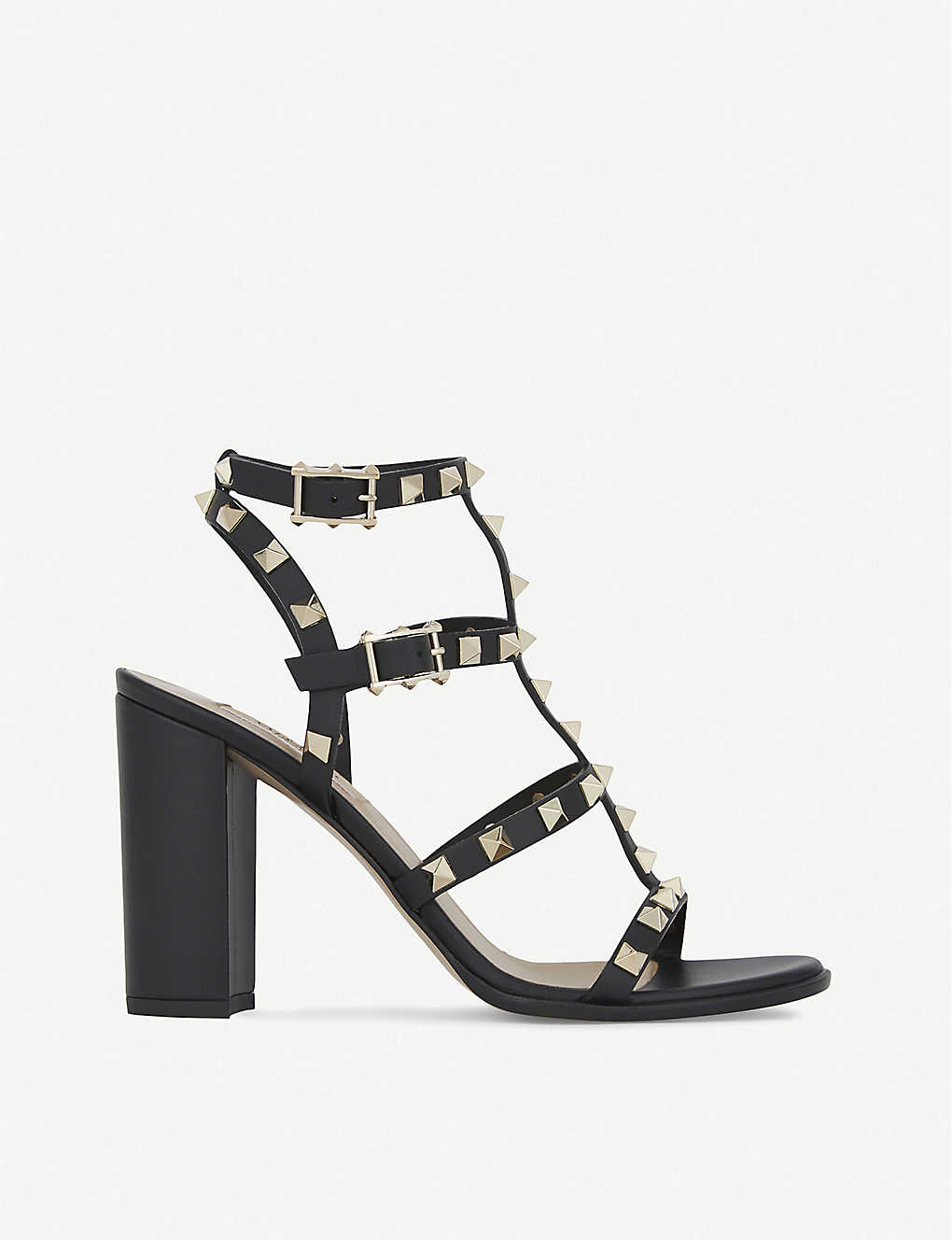 d1292a0120e VALENTINO - Rockstud 90 leather heeled sandals