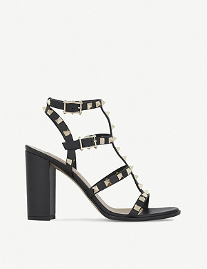 VALENTINO Rockstud 90 leather heeled sandals