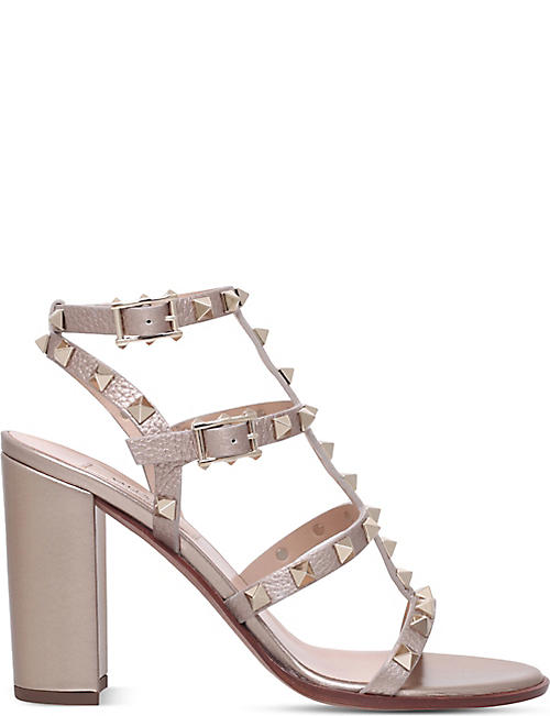 a09d5496dd VALENTINO Rockstud 90 leather heeled sandals