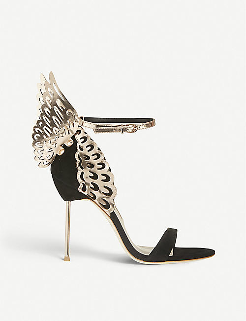 SOPHIA WEBSTER Evangeline winged suede heeled sandals