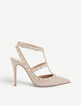 VALENTINO GARAVANI: Rockstud 100 leather courts