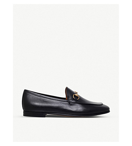 20eefcc917ae GUCCI Jordaan leather loafers (Black