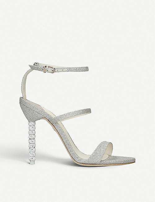 SOPHIA WEBSTER Rosalind crystal heeled sandals 100